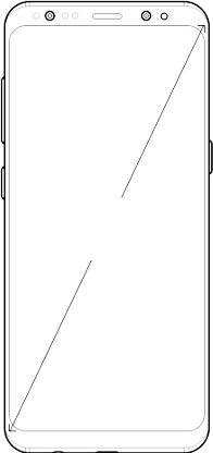 Illustration of Galaxy S8 showing screen dimension