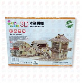 3D wooden puzzle-  small